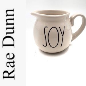 "RAE DUNN ""SOY"" ceramic Artisan collection pitcher"